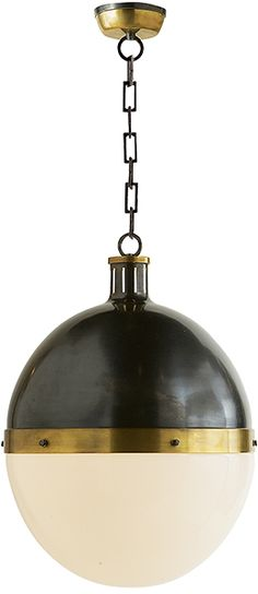 "Hicks Extra Large Pendant by Thomas O'Brien for Visual Comfort.  22""H x 16""W  (other sizes available)  $798 retail"