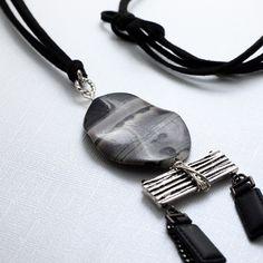 Boho statement necklace, Contemporary Jewelry, modern chic jewelry by LunicaDesignJewelry on Etsy