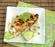 Margarita Chicken with Cilantro-Lime Rice and Guacamole - grilled chicken with a flavorful tequila-lime marinade. | Kristine's Kitchen