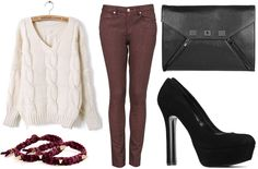 ANNAWII ♥ - CABLE KNIT AND GLITTER JEANS