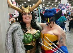 Lady Loki and Wolverine SLCC 2015