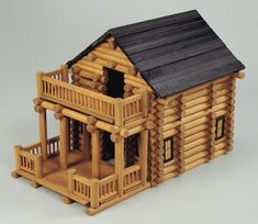 Mountain Lodge Cabin - A more detailed Tumble Tree Timber set that is also compatible with Lincoln logs. Mountain Lodge Cabin - A more detailed Tumble Tree Timber set that is also compatible with Lincoln logs. Popsicle Stick Crafts House, Popsicle Sticks, Craft Stick Crafts, Cabin Crafts, Home Crafts, Mini Cabins, Lincoln Logs, Doll House Plans, Dollhouse Kits