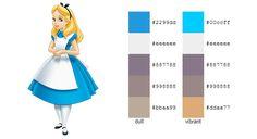 #color #palette #scheme Alice in Wonderland (Disney) - Alice