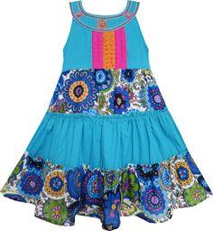 6cf4ead9861f EV41 Sunny Fashion Little Girls  Dress Hawaii Flower Sundress Summer Beach  3T Sunny Fashion http