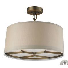 Found it at Wayfair - Liesse 3-Light Drum Pendant