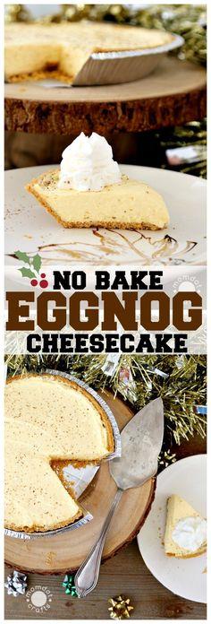 Easy No Bake Eggnog Cheesecake - MomDot
