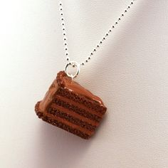 Scented Chocolate Cake Necklace