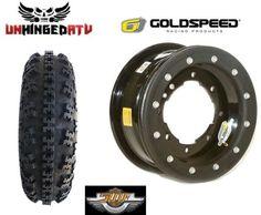 $332.95 Goldspeed-Carbon-Ring-Beadlock-Wheel-and-Tire-Kit-10-TRX-450R-250R-YFZ-Raptor