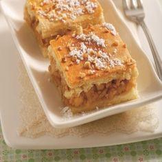 Voňavé po škorici: Jablkové kocky z kysnutého cesta Apple Pie, Desserts, Food, Tailgate Desserts, Deserts, Essen, Postres, Meals, Dessert