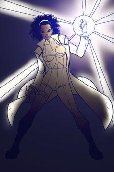 Photon-Monica Rambeau by Dante-Picasso on DeviantArt Marvel Comic Character, Marvel Characters, Marvel Movies, Marvel Women, Marvel Heroes, Captain Marvel, Female Superheroes And Villains, Superhero Villains, Marvel Comic Universe