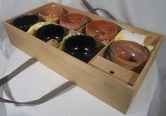 Replica Of Rakuyaki Tea Bowls Rikyu-Shichishu (7 kinds) that are 7 Rakuyaki tea bowls made by Chojiro, who was a founder of Raku-family, by order of Rikyu. They are Kengyo, Hayafune, Kimamori,Rinzai, Omori, Toyobo,Hachihiraki.  Name of artist : Mr Shoraku Sasaki who is the most famous Rakuyaki potter in Japan.