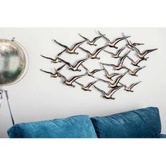 b204c6515ff Stratton Home Decor Decorative Waves Metal Wall Décor