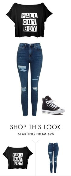 """""""untitled"""" by staylookinggood ❤ liked on Polyvore featuring Topshop and Converse"""