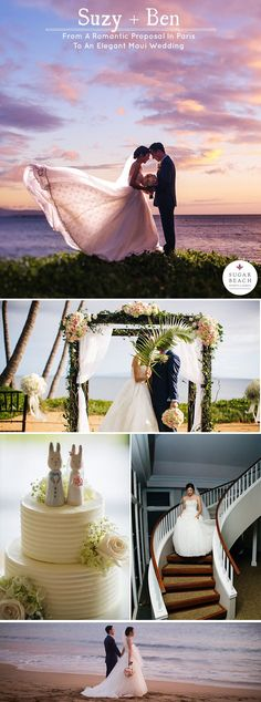 Suzy and Ben thought how romantic it would be to have their wedding in a beautiful island paradise – Maui. After visiting Sugar Beach Events's website and viewing photos of the amazing Maui weddings held at our oceanfront venue, they decided it was the id