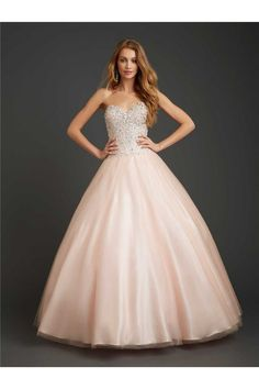 Ball Gown Strapless Light Pink Organza Ruffle Corset Quinceanera ...