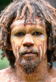 Traditional Aboriginal Face Painting, Northern Territory, Australia