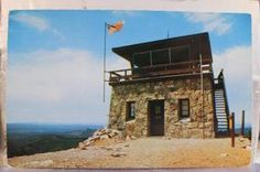 South Dakota SD Ranger Station Terry Peak Lookout Tower Postcard Old Vintage PC