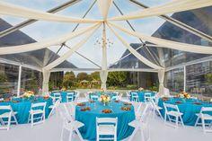Tented reception at the Hyatt Regency Monterey