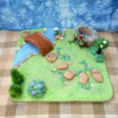 Hey, I found this really awesome Etsy listing at https://www.etsy.com/listing/252465451/needle-felt-wishing-well-garden