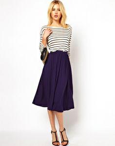 Image 1 ofASOS Full Midi Skirt $35.60