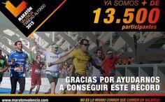 La Maratón de Valencia crece imparable: 13.500 inscritos