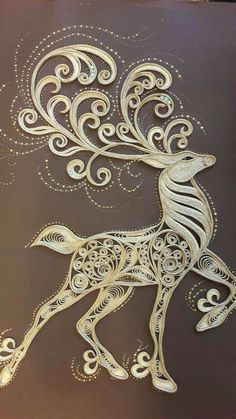 One of the niftiest pieces of quilling I've ever seen. The longer you examin… One of the most beautiful quilling … Arte Quilling, Paper Quilling Patterns, Origami And Quilling, Quilled Paper Art, Quilling Paper Craft, Origami Paper, Quilling Ideas, Paper Paper, Paper Cards