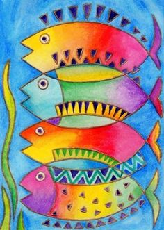 ideas animal art projects for kids teachers Laurel Burch, Pinterest Pinturas, Projects For Kids, Art Projects, Wal Art, Atelier D Art, Fish Art, Silk Painting, Painting Art