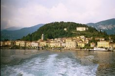 Bellagio, Italy, seen from the Rapido as we return from touring the Rockefeller Gardens. Do it!