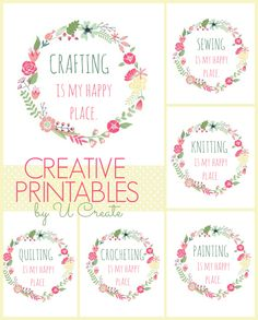 Happy Place Printables for the Crafter by u-createcrafts.com