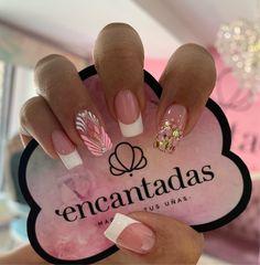 Gem Nails, Hair And Nails, Gorgeous Nails, Love Nails, French Tip Acrylic Nails, Diy Beauty Nails, Luxury Nails, Simple Nails, Nail Arts