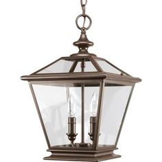 Thomasville Lighting | Crestwood Collection Antique Bronze 2-light Foyer Pendant | Home Depot Canada