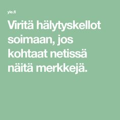 Viritä hälytyskellot soimaan, jos kohtaat netissä näitä merkkejä. Math Equations, Education, Teaching, Onderwijs, Learning