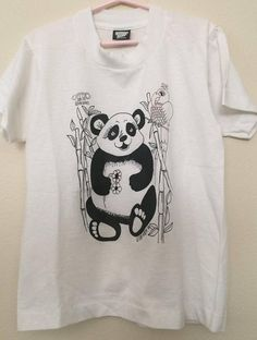 1986 Panda Screen Stars BEST Children's New Old Stock Size