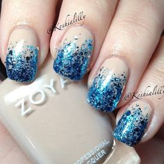.@hairandnailfashion | I absolutely LOVE this glitter gradient mani by @Keshia Wagers Wagers Wagers Norman- Im DEFINITELY ... | Webstagram - the best Instagram viewer