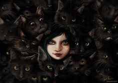 haha like me with my cats! This artist has very interesting stuff! Among Cats by *jerry8448 on deviantART