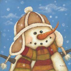"""Snowman I"" by Kim Lewis"