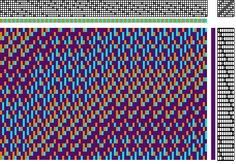 Figures for Polychrome Echo Weave on Eight