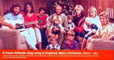 Bee Gees family December 1983