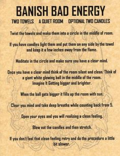Banish Bad Energy Spell, Book of Shadows Page, BOS Pages, Witchcraft, Wicca Magick Spells, Wicca Witchcraft, Healing Spells, Hoodoo Spells, Magick Book, Wiccan Altar, Banishing Spell, Real Witches, Book Of Shadows
