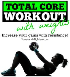 Total Core Workout with Weights - the fastest way to shred your mid-section! Tone-and-Tighten.com