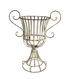 antique french wire urn