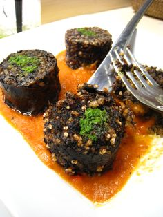 Morcilla. One of my favorite Spanish tapas