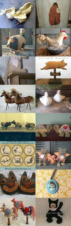 Primitive Animals from the Hafair team by Cathy Richards on Etsy