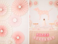 For the dessert table back drop, Brag Design come up with a cute puppy themed backdrop to display.