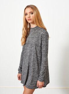 Petites Grey Swing Dress