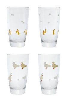 Set Of 4 Duck Tumblers