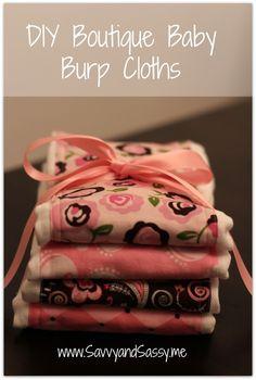 Savvy and Sassy: DIY Boutique Baby Burp Cloths
