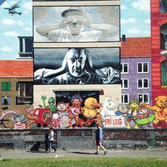 Street art, BaNanna Park, Copenhagen