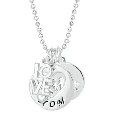 SENTIMENTS FAMILY MULTI-CHARM PENDANT  Sterling Silver Family Multi-Charm Necklace #helzberg#pingagement and #helzbergdiamonds