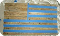 DIY: How To Make an American Flag out of a Wood Pallet (Step by Step Tutorial w/ Pictures) - Sassy Dealz